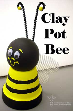 Super Cute Clay Pot Bumble Bee - Clay Pot Crafts