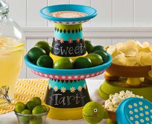 Sweet Tart Terracotta Cupcake Stand - Clay Pot Crafts