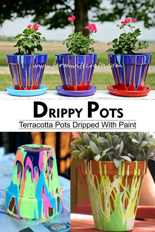 Terracotta Drippy Pots - Clay Pot Crafts