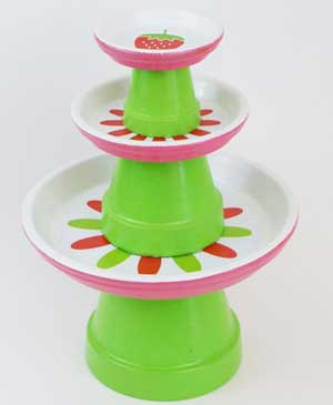 Tiered Terracotta Cupcake Stand - Clay Pot Crafts