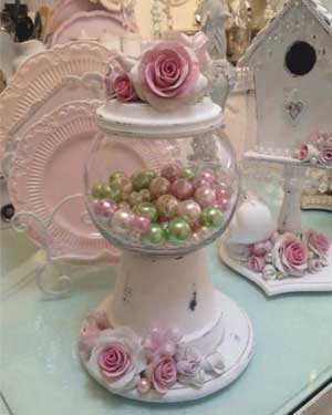 Wedding Display Candy Jar - Clay Pot Crafts