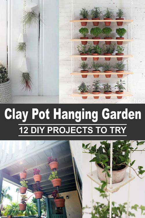 Clay Pot Hanging Garden 12 DIY Projects For You To Try
