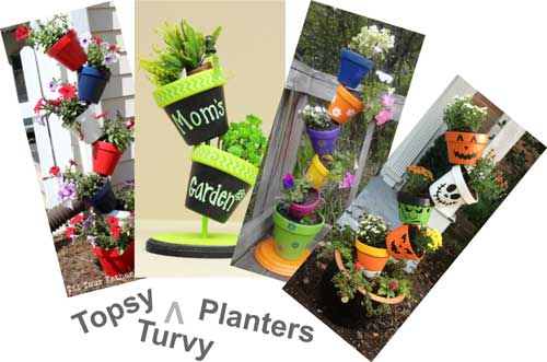 Topsy Turvy Planters - Clay Pot Crafts