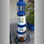 Artistically Painted Clay Pot Lighthouse - Clay Pot Crafts